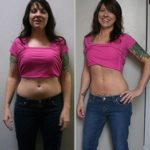 before and after of personal trainer Westwood client