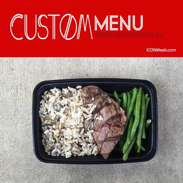 iconmeals custom menu