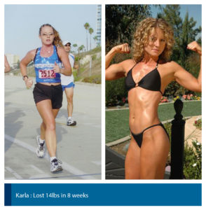 fitness model before and after